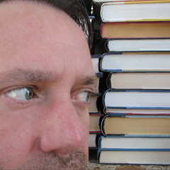 306 | 365 Rewind | Books (DavidNewEngland) Tags: gay portrait selfportrait man beard books greeneyes saltandpepper project365 davidsullivan davidnewengland 365rewind