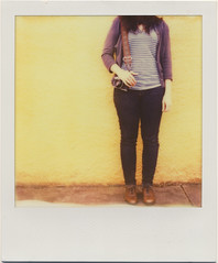 whitney. always just standing around. (daveotuttle) Tags: sx70 comparison testfilm impossibleproject px680 pioneerfilm