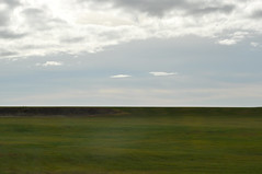 (Steini789) Tags: sky nature field grass clouds iceland line straight