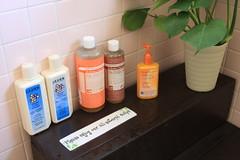 Organic soap, shampoo, conditioner, and facewash