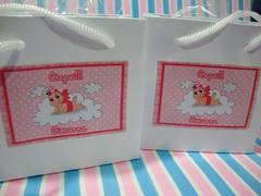Lembrancinha lcool em gel e sacolinha personalizada (DanySabadini) Tags: infantil casamento aniversrio caricatura caneca padrinhos lembrancinha lembrancinhaconvite