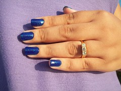 Azul Flocado (1/2) (Josélia Vasquez (iEsmalte)) Tags: azul impala coleção esmaltes brasileirinhas flocado novo70