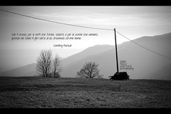 tradimento   betrayal (Paolo Martinez) Tags: bw nature landscape typography frames mood outdoor 28mm natura dedica emotive paesaggio grafica oropa peopleenjoyingnature