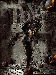 Boxing (didiercen) Tags: photomanipulation photoshop design illustrator homme boxe symbolique artdesign creativeart flickraward