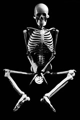 As time goes by (TheOtherPerspective78) Tags: life clock skeleton death skull time age bones passing tod mori memento leben zeit uhr vanitas skelett knochen vergehen