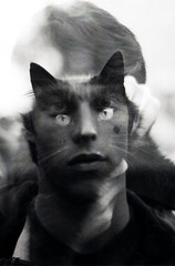 Catman *explored* (willbendall) Tags: boy man cat 50mm nikon doubleexposure fe 18 catman