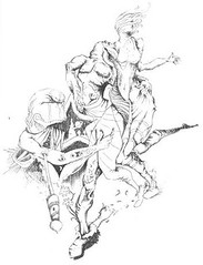 PerseusRescuingAndromeda_small (LouisBraquet) Tags: original art pen ink sketch drawing originalart surrealism dream surreal andromeda fantasy surrealist dreamlike mythology perseus unconscious penandink jungian freudian hallucinogenic psychoanalysis fantasticrealism subconscious psychoanalytical mythologicalart modernsurrealism modernsurrealist unconsciousimagery