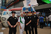 Dame Mary Peters (2013 WPFG Patron) and NYPD representatives by 2013 World Police _ Fire Games on 2011/08/25