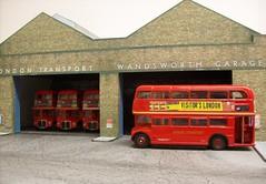 Wandsworth LT garage (kingsway john) Tags: london transport wandsworth bus garage kingsway models card kit 176 scale model londontransportmodel diorama oo gauge miniature