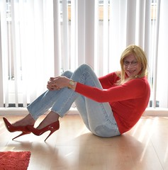 Jeans and high heels. (sabine57) Tags: drag tv cd crossdressing tgirl transgender jeans tranny transvestite crossdresser crossdress transvestism