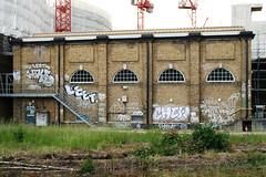 Various... (Alex Ellison) Tags: urban toxic wall graffiti wake tag chrome chew leet trackside northlondon neka tox 1time 1t nekah neks chewz 10foot