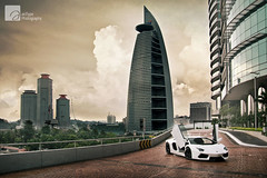 Stormtrooper and the Tower of Doom (anType) Tags: white sports car asia exotic malaysia kualalumpur lamborghini luxury coupe supercar sportscar v12 lambo hypercar worldcars menaratm aventador bangsarsouth biancoisis lp7004