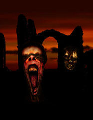 Haunted (Hanzlers Warped Visions) Tags: abbey dead blood ruins blind zombie gore horror undead prophet seer macarbe