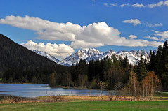 Spring time in Alps (meinbleistift) Tags: blue sky lake mountains alps tirol spring innsbruck seefeld