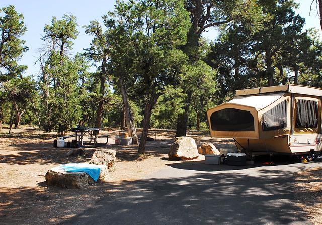 family camping tents picnic trailer southrim grandcanyonnationalpark mathercampground