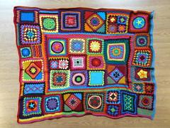 A granny square crochet beach blanket in need of a border (crochetbug13) Tags: crochet crocheted crocheting beachblanket crochetblanket crochetafghan afghan grannysquareafghan grannysquareblanket grannysquare grannysquares crochetbug crochetsquare crochetsquares retrocrochet