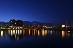 El Puerto de Campello (Fotomondeo) Tags: sea sky espaa valencia night port reflections stars puerto noche mar spain nikon clear alicante cielo estrellas campello reflejos elcampello d7000