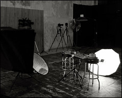 Scanner Fakery Set-up (Studio d'Xavier) Tags: bw behindthescenes lightingsetup strobistsetup