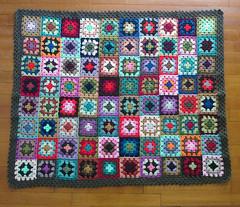 granny blanket (*Leanda) Tags: baby colour wool crochet craft yarn blanket grannysquares