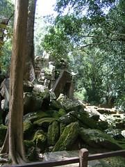 Angkor Thom, and a wrong turn (oldandsolo) Tags: cambodia buddhism worldheritagesite siemreap buddhisttemple angkorthom rockpile angkorarchaeologicalpark khmerkingdom theruinsofangkor buddhistfaith crumblingruins angkortempleruins