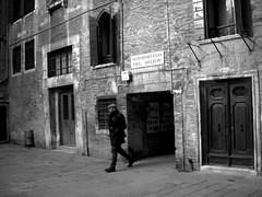 thoughtful (Le Xuan-Cung) Tags: venice winter blackandwhite bw sunlight man lightsandshadows alley nikon mood noiretblanc walk earlymorning citylife streetshots thoughtful streetphotography atmosphere streetlife streetscene nb cap sw venezia castello venedig sunnyday lagooncity livinginitaly livinginvenice lightsanddarks nikoncoolpixs52 inthecolddays sotoportegodelmilion