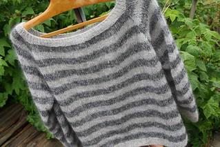 Raglansweater pattern by Liselotte Weller