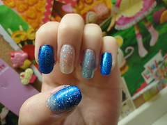 Ice Princess (Momo Lolli) Tags: blue art ice princess nail sparkle nails manicure