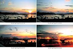 Coucher de soleil le lundi 18 juin 2012 sur le chenal entre Roscoff et l'île de Batz (Pierre Cuzon) Tags: sunset roscoff bretagne roscoffrosko webcamroscoffarchives