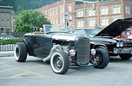 Midget antique tin race cars