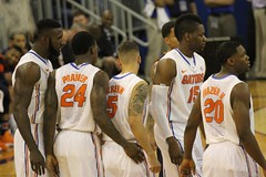 Pregame Huddle (dbadair) Tags: basketball war university eagle florida gators auburn tigers sec uf 2014