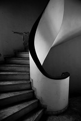 Noise from above (dimg) Tags: white black building monochrome architecture stairs sony athens greece a100 penteli