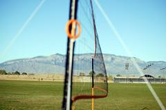 VolleyNet Sandia (ROTPOD) Tags: sky mountains green net field photography nikon background albuquerque volleyball sandia