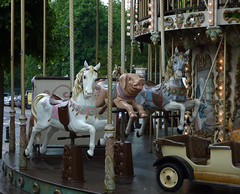 Horses and a pig - rides on a carrousel, Rambouillet, France (Monceau) Tags: horse france classic pig sculptures rambouillet carrousel