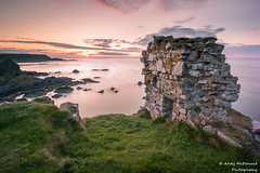 Findlater Castle Sunset (andy_mcdonaldphoto) Tags: longexposure pink sunset green castle scotland ruins rocks warm scottish eveninglight clifftop findlatercastle leefilters 6stopnd littlestopper