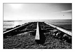 Dpart (armandbrignoli) Tags: plage mer noir et blanc depart beach bw sea fuji