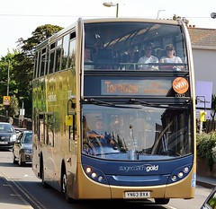 Stagecoach South West Gold Enviro 400 (15932) (MancPhotographer2014) Tags: street travel southwest west bus english buses station gold riviera south transport plymouth company devon 400 vehicle service standard torquay brand branding stagecoach paignton enviro totnes enviro400