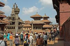 89. Durbar Square, Patan City, Kathmandu Valley, Nepal (Jay Ramji's Travels) Tags: nepal kathmandu patan garuda kathmanduvalley durbarsquare piller patancity khrishnatemple khrishnamandir