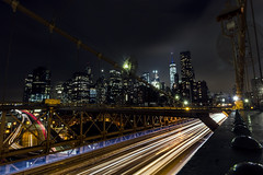 Long road ( Esther ) Tags: street new york city travel bridge blue light summer sky urban usa ny building colors skyline architecture brooklyn night clouds america canon river lights long exposure cityscape sundown angle manhattan wide