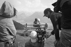 Onset (Bobo Analog) Tags: camera bw white black mountains salzburg film analog austria sterreich focus scenery alexa compact filmset arri onset wolfgangssee setlife