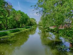 Late Spring at the Canal (kendoman26) Tags: reflection fuji hdr fujifinepix imcanal enjoyillinois iandmcanal travelillinois imcanaliandmcanal nikhdrefexpro2 fujifinepixs1