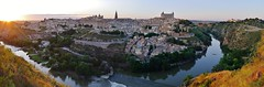 Toledo Panorama (Teseum) Tags: sunset panorama espaa lumix spain panoramic toledo tajo espagne