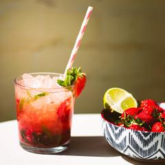 strawberry mojito (swolstenholme1977) Tags: summer food strawberry drink seasonal mint cocktail foodporn british rum lime bacardi bakingprojectstrawberrymojito
