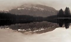 slowly we turn (rockpowered) Tags: two bw 6 lake canada film analog jack scanner banff pentacon acros xtol 80mm biometar