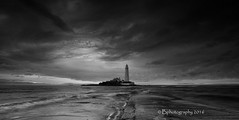 Something is brewing (baldridge1271) Tags: sea seascape mono bay waves blackandwhitephotography stmaryslighthouse whitley sonya58