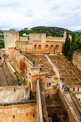 The Alhambra, Granada - Alcazaba with remains of garrison houses (peripathetic) Tags: building beauty architecture canon buildings spain worldheritagesite espana alhambra moorish granada 5d palaces 2016 nasrid nazaries 5dmkiii 5dmk3 canoneos5dmk3