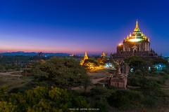MORNING TWILIGHT FROM BAGAN (::: a j z p h o t o g r a p h y :::) Tags: travel trees tourism architecture landscape temple pagoda twilight burma landmark myanmar bagan twilightsky morningtwilight