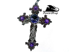 """Pendant """"Hope"""" Collection """"Maleficent. Vintage Black"""" in the form of a cross filigree handmade Steampunk, Vintage, Victorian, Gothic jewelry (fenixdrag) Tags: vintage necklace cross handmade baroque pendant naturalstone filigree maleficent blackcross handmadejewelry vintagejewelry vintagependant victorianjewelry gothicjewelry handmadependant steampunkjewelry steampunkpendant filigreependant victorianpendant gothicpendant pendantcross pendantbaroque pandantcrossbaroque maleficentpendant maleficentjewelry"""