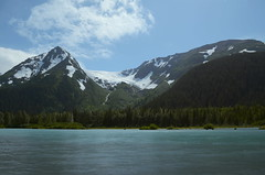 Explorer_Glacier (davesnothere11) Tags: trees cloud mountain water alaska clouds exposure explorer gimp glacier multiple portage blend imagemagick