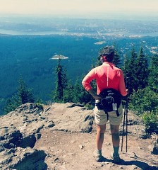 Looking over Vancouver. (France-) Tags: trees vancouver bc outdoor femme hike arbres smartphone vue