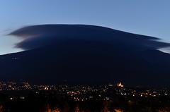 Cuntissa of Etna (ciccioetneo) Tags: longexposure dusk sicily etna lenticularcloud catania nikkor80200mmf28 mountainwave volcanoetna cuntissa nikond7000 cuntissadelletna etnacuntissa mammothlenticolarcloud altocumuluslenticolaris